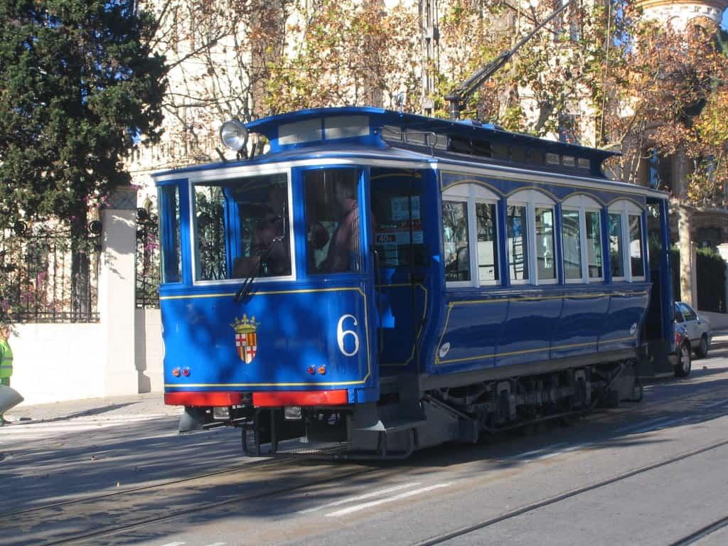 החשמלית הכחולה, קו היסטורי לטיבידאבו ברצלונה