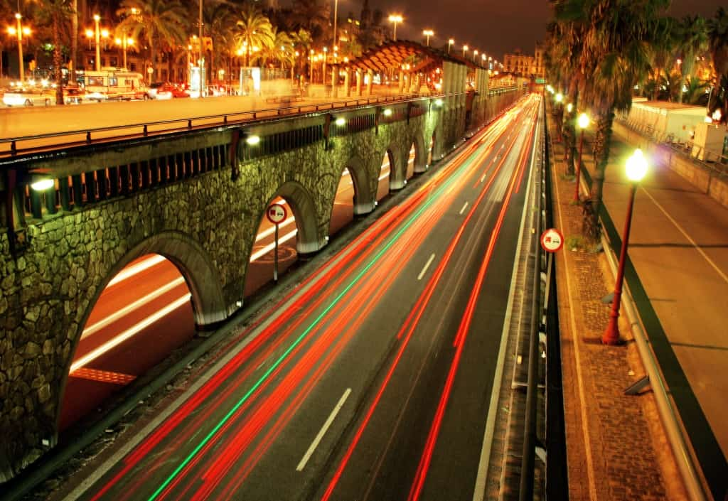 אורות בברצלונה לעת ערב