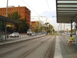 תחנת טראם בברצלונה